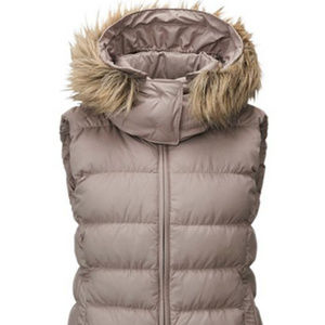 UNIQLO WOMEN'S MEDIUM DOWN VEST BEIGE